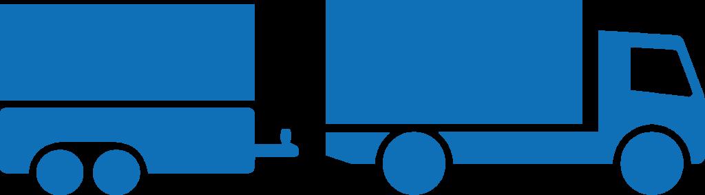 LKW mit Anhänger